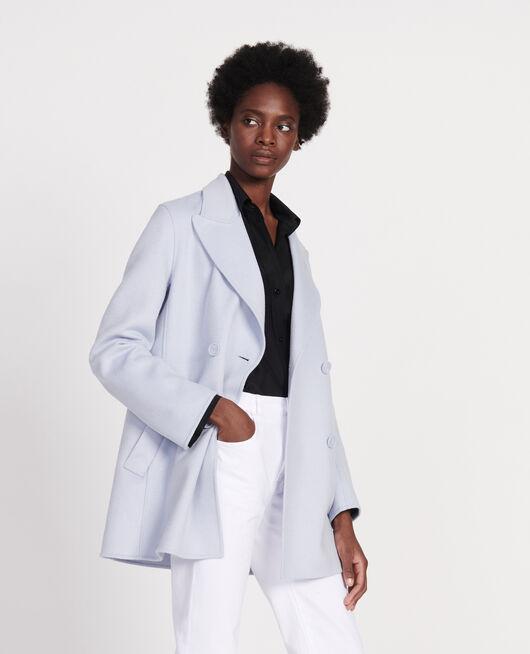 Abrigo tipo chaquetón de lana doble cara HEATHER