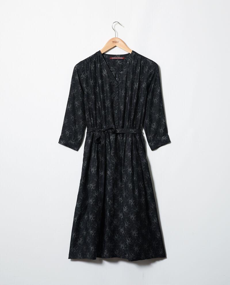 Vestido midi Hurly burly noir Inepie