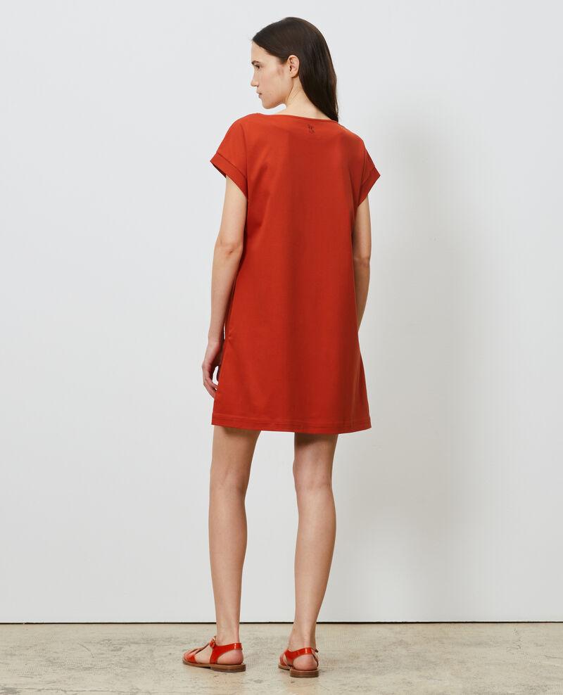 Vestido corto de algodón bío Rooibos tea Neuillaco