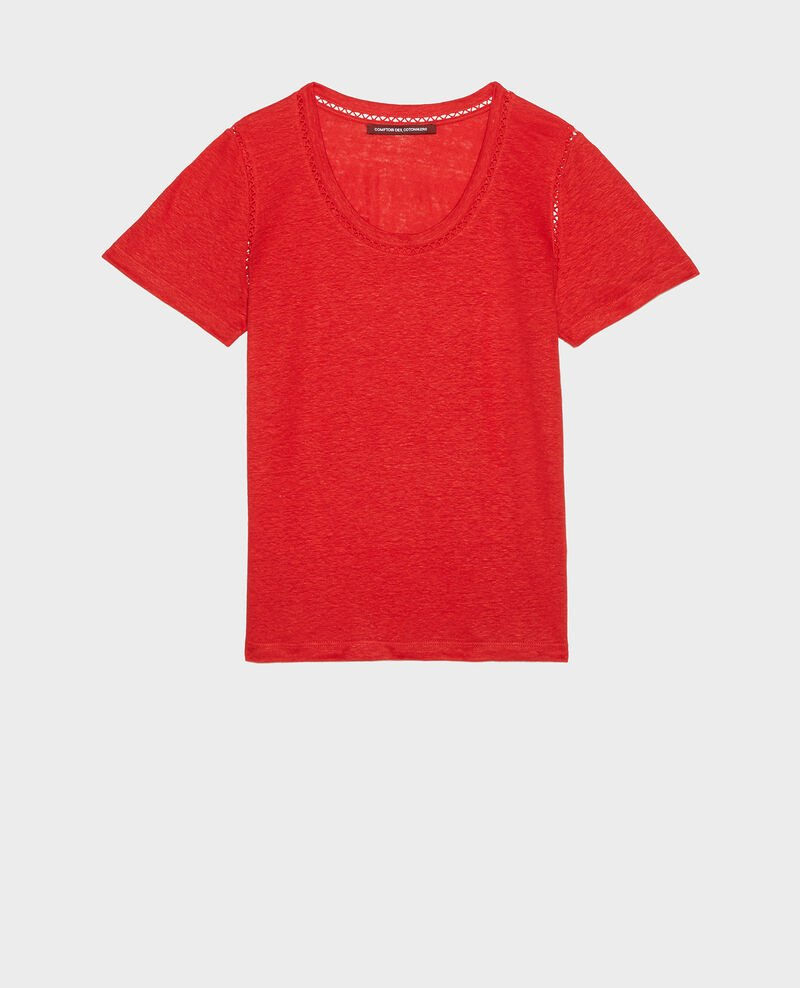 Camiseta de lino Fiery red Lye