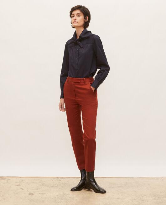 Pantalones chinos 7/8 tapered de algodón BRANDY BROWN