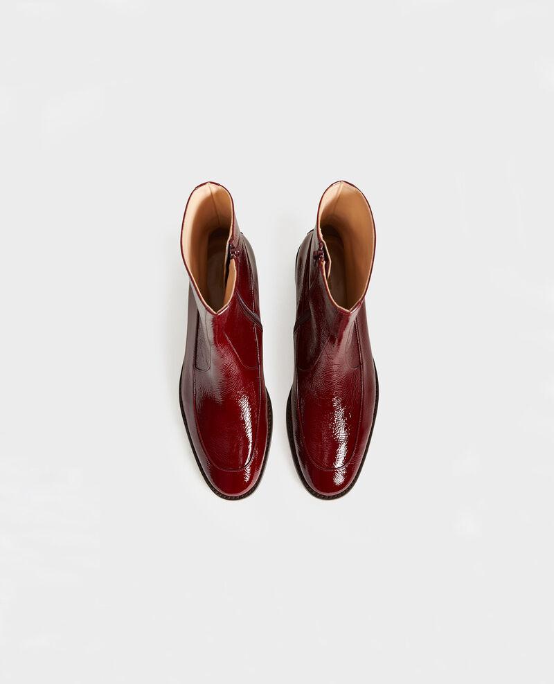 Botines ajustados de cuero Royale red Mamine