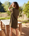 Robe avec lavalière amovible Cheng olive 9iolandi