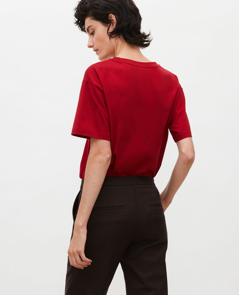 Camiseta oversize de algodón manga corta  Royale red Maincy