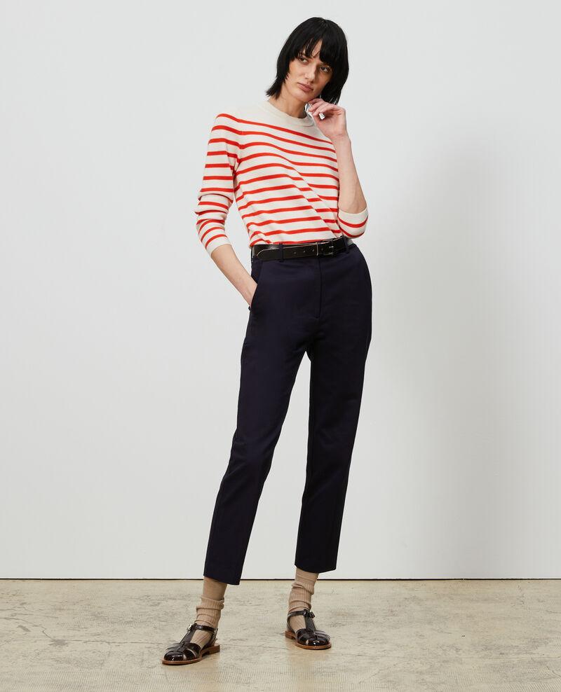 Pantalones chinos 7/8 tapered de algodón Night sky Mezel