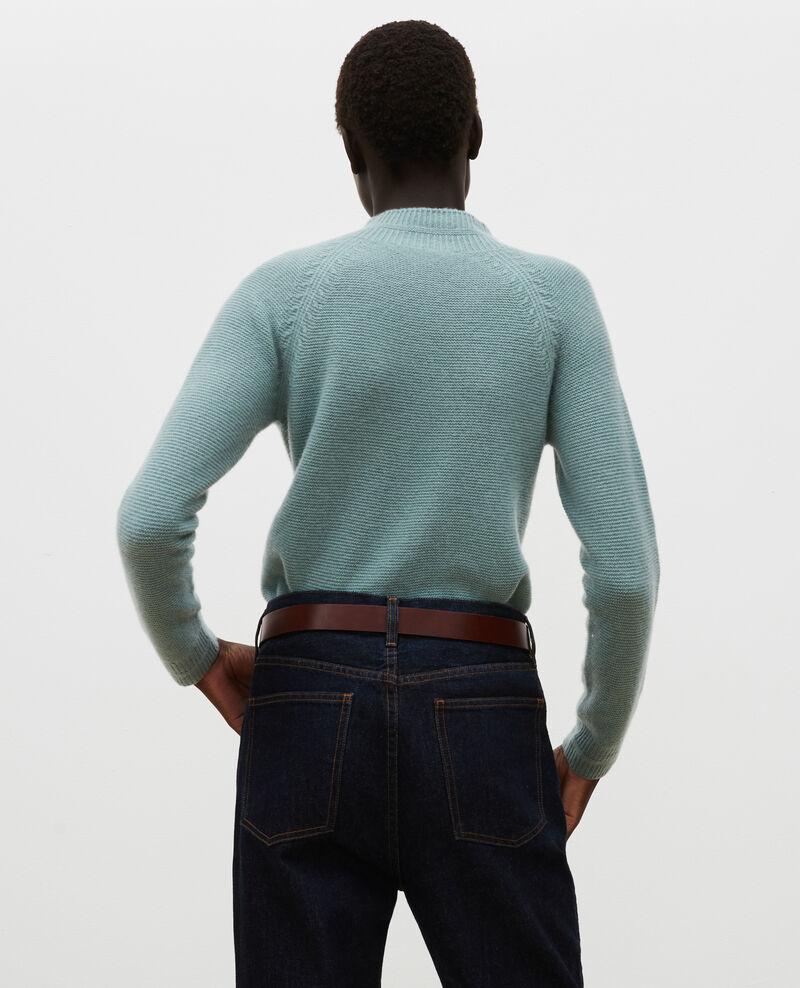 Jersey 3D evasé de cachemir con cuello subido Chinois green Manduel