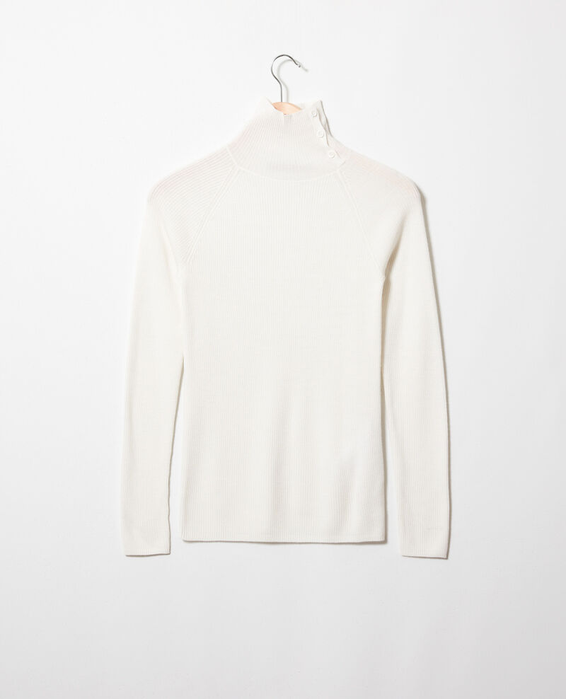 Jersey con botones en el cuello Off white Jemo