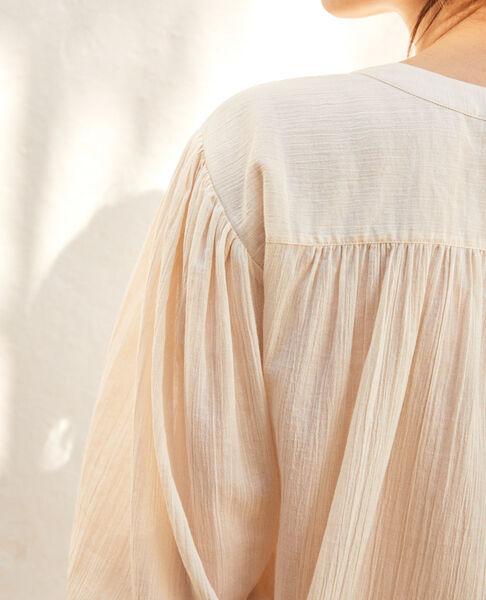 Comptoir des Cotonniers - Blouse en coton crêpe Linen/white - 3