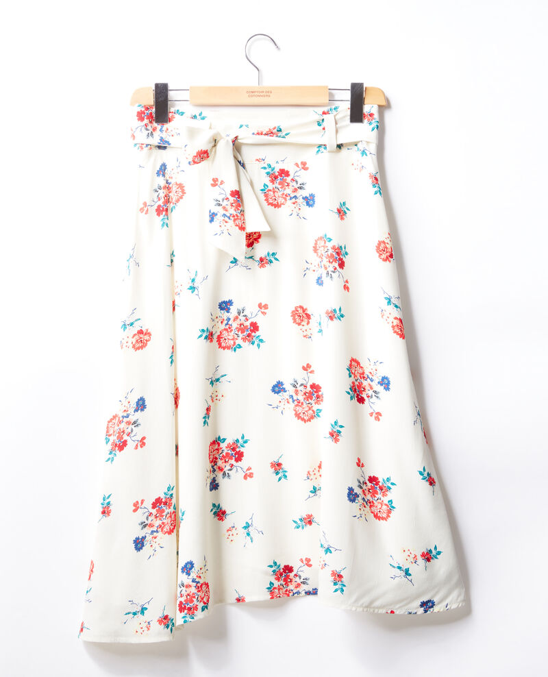Falda con cinturón Blanco Flease