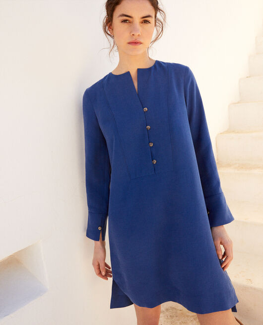 Robe col tunisien IMPERIAL BLUE