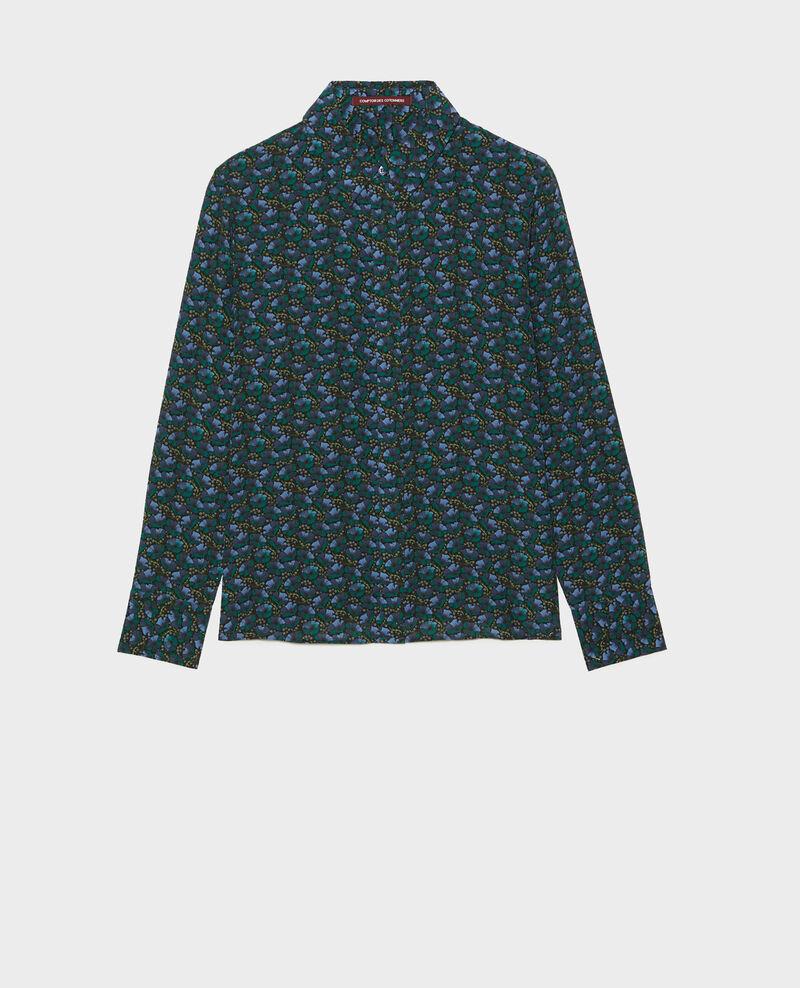 Camisa de seda con manga larga Print artdeco darkgreen Misabethou
