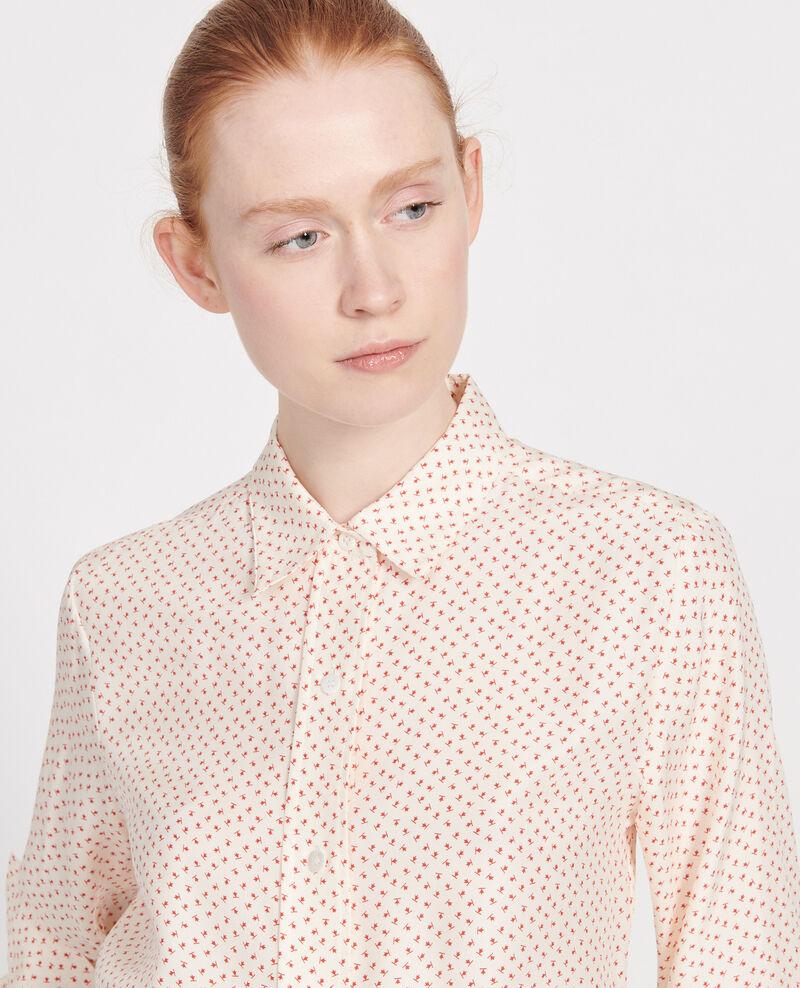 Camisa de lunares de seda Memphis buttercream Libalo