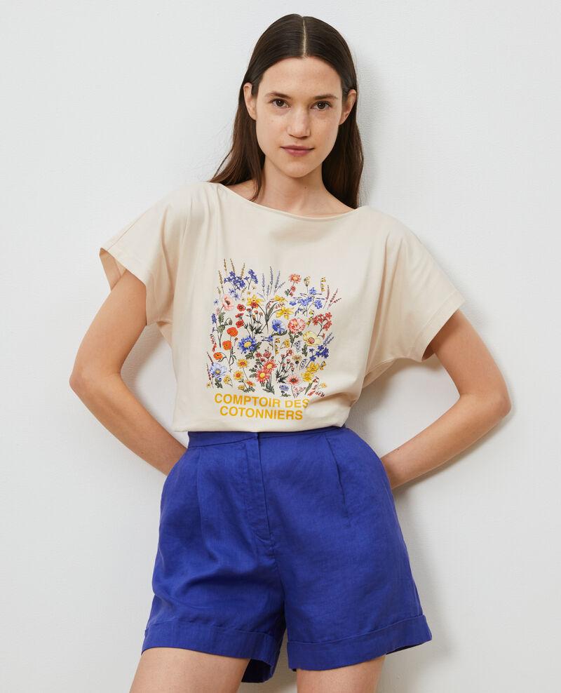 Camiseta de algodón manga corta Tapioca Marcelin
