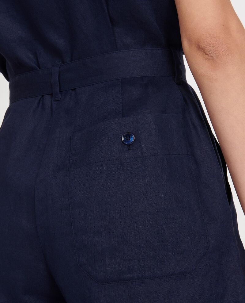 Mono corto de lino Maritime blue Lariona