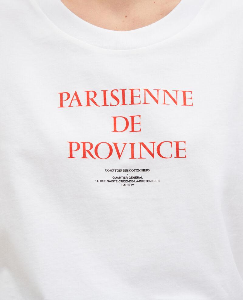 Camiseta de algodón manga corta Brilliant white Mara