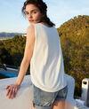 Camiseta de tirantes de algodón 3D Off white Iranka