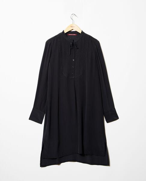 Comptoir des Cotonniers - Vestido de seda con pechera Noir - 2