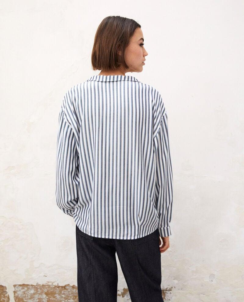 Camisa estilo pijama Off white Gladys