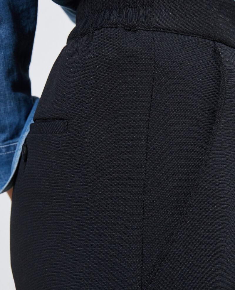 Pantalón MARGUERITE elástico 7/8 Black beauty Napoli