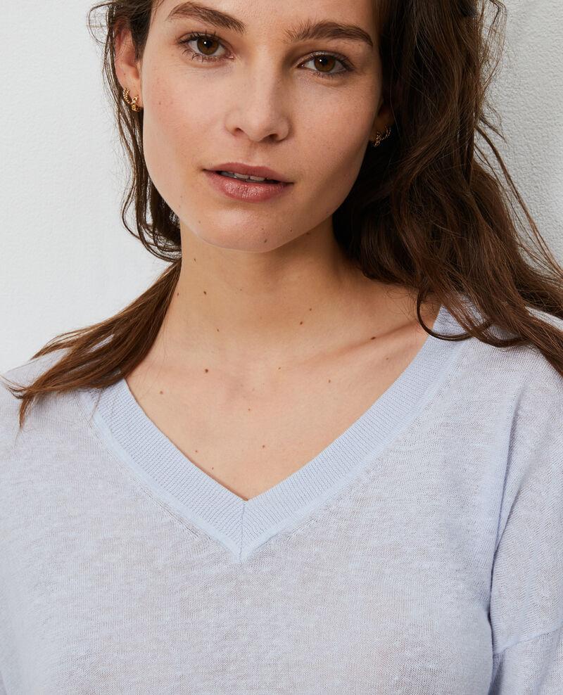 Jersey de lino y algodón bío Heather Leonotis