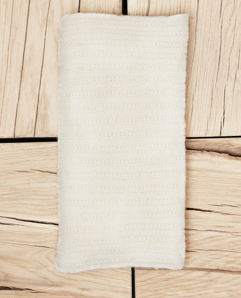 Bufanda de punto Off white Jecharpa