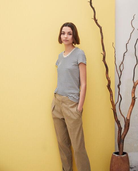 Comptoir des Cotonniers - Camiseta de rayas Beige/navy - 2