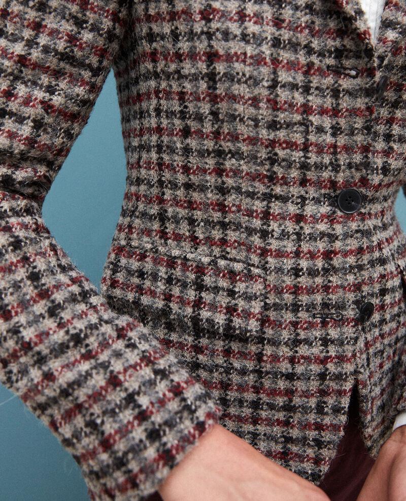 Chaqueta de traje con lana Rojo Gorte
