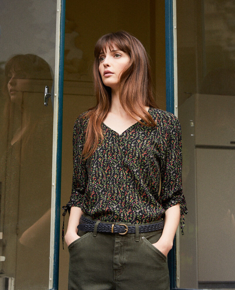 Blusa estampada Daphne noir Jars