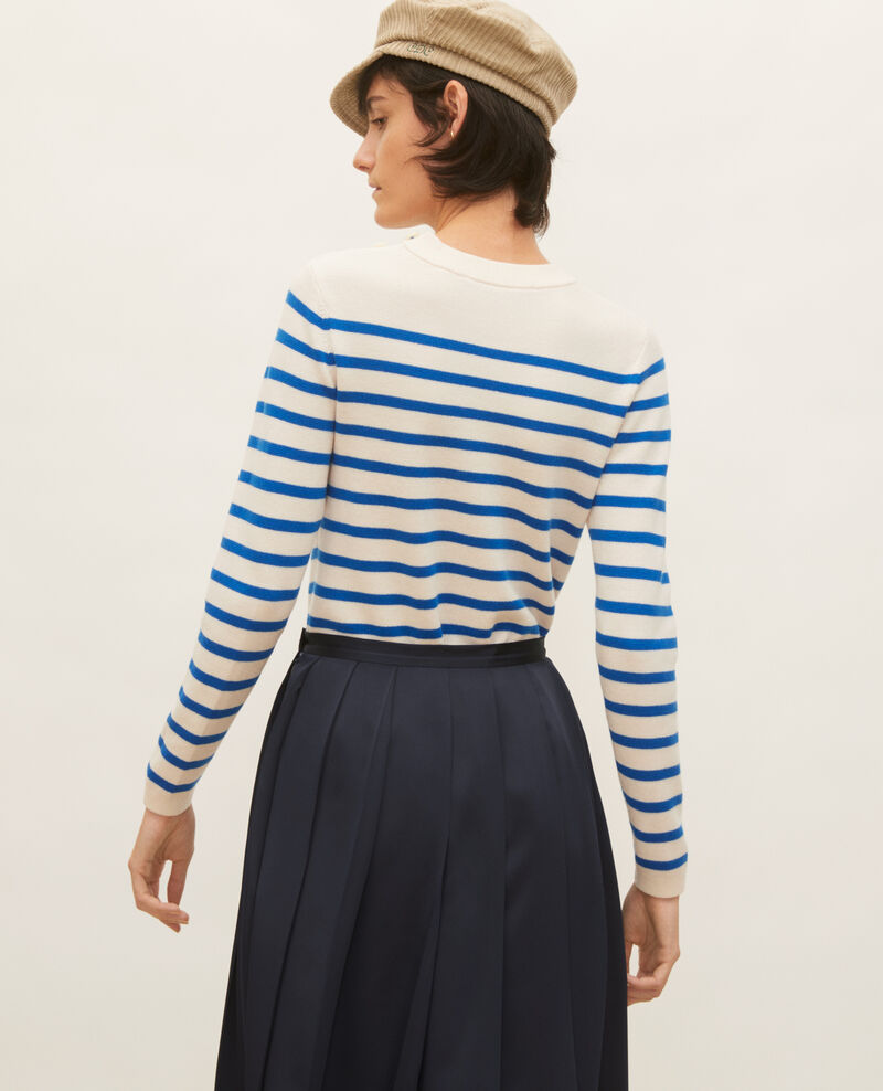 MADDY - Jersey marinero de lana Stripes princess blue gardenia Liselle