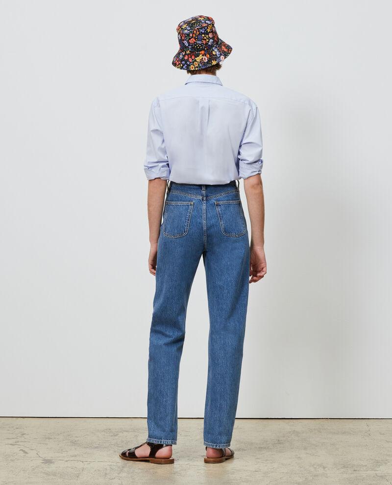 REGULAR - Jeans desteñidos talle alto y 5 bolsillos  Light denim Merleac