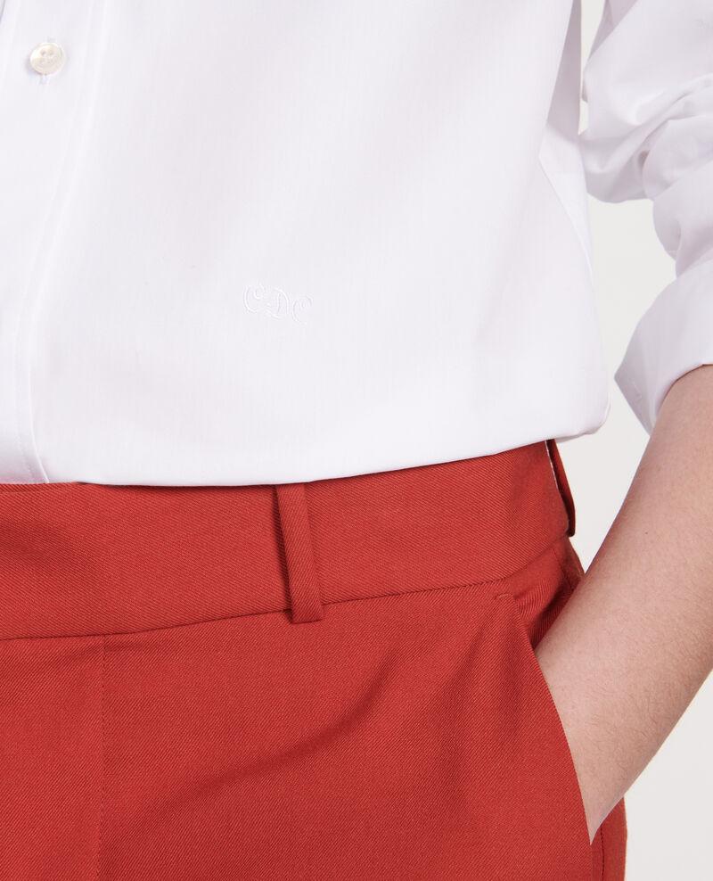 Camisa clásica de popelina Optical white Lynda