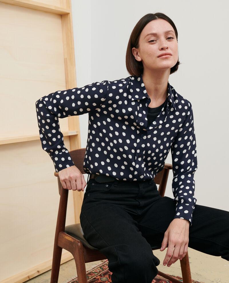 SIBYLLE - Camisa de seda con estampado Big dots Nabilo