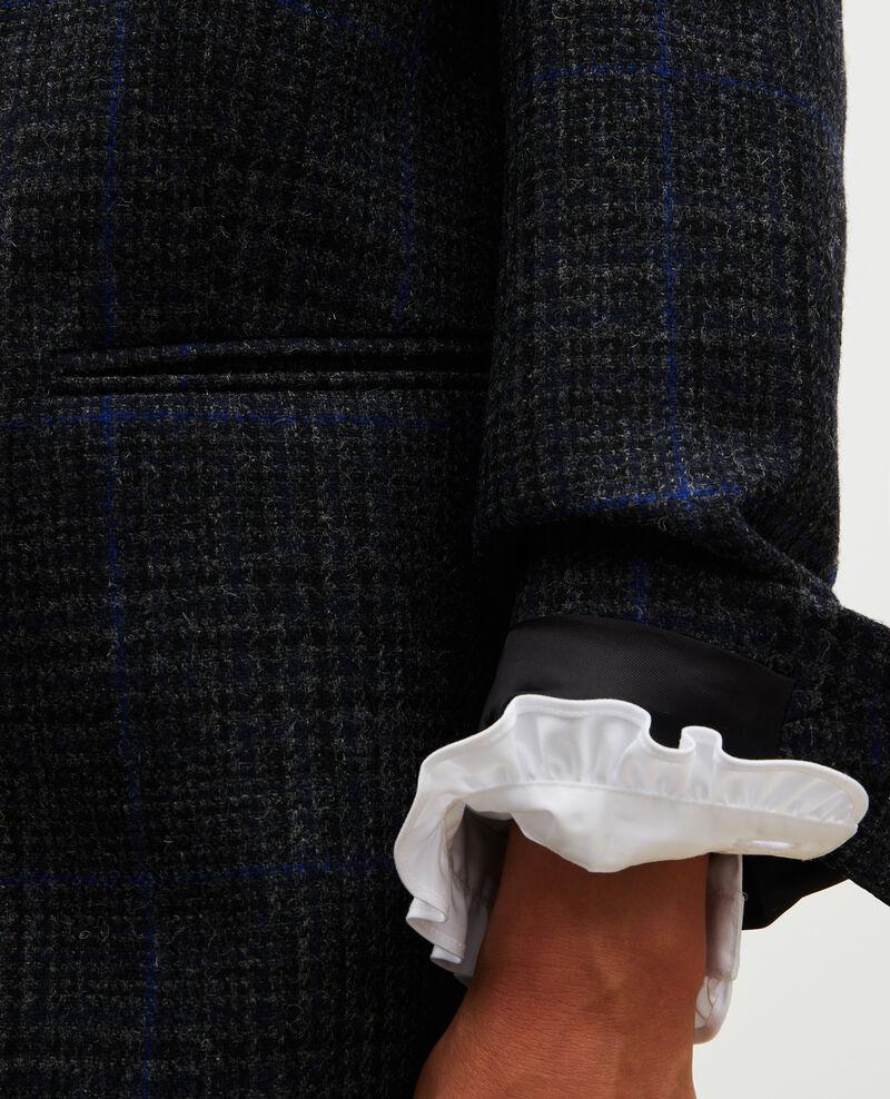 Blazer amplio de lana Night sky pieddepoule Myennes