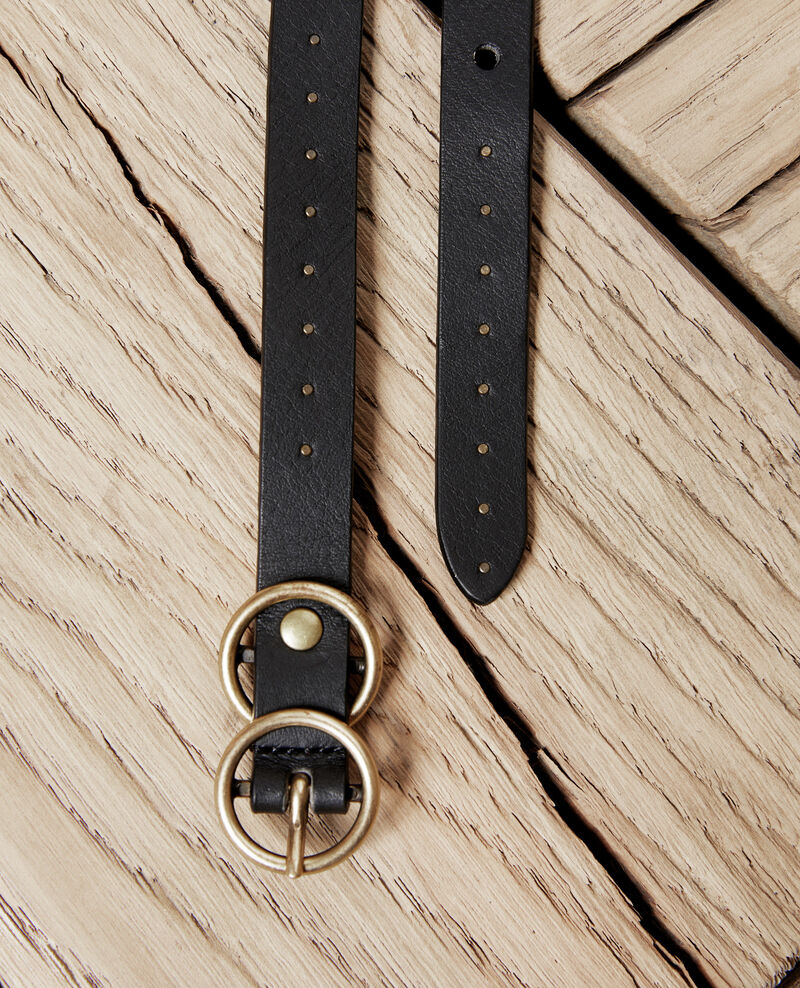 Cinturón de cuero Noir Jistud
