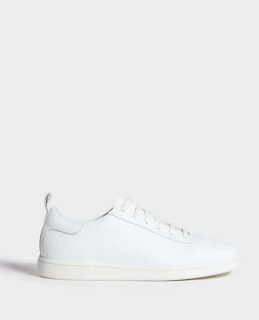 Sneakers de cuero con cordones OPTICAL WHITE