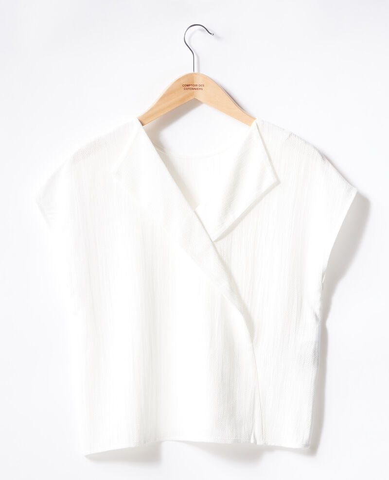 Top con escote en la espalda Off white Fevrier