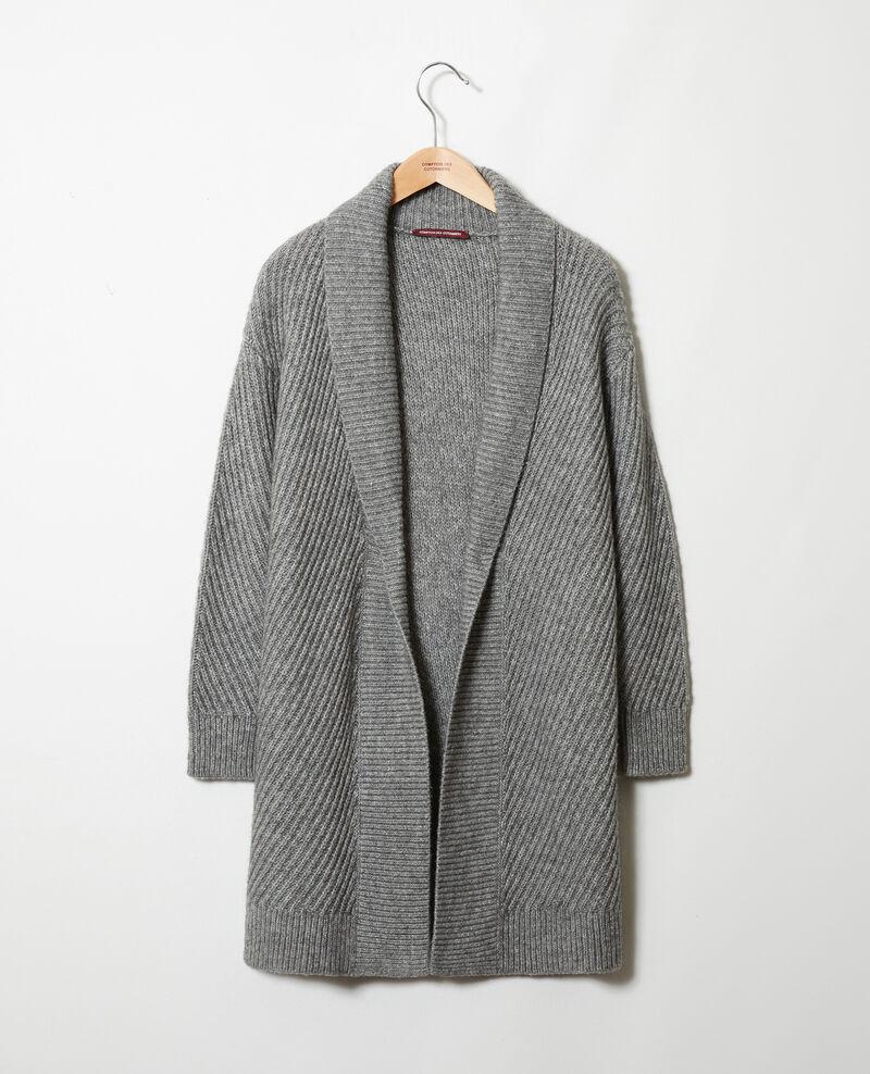 Jersey de punto canalé Middle grey Jokin
