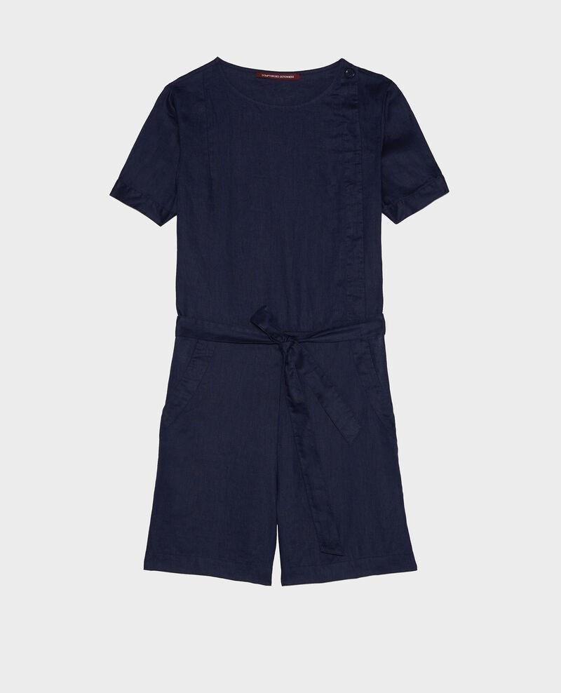 Mono short de lino Maritime blue Lariona