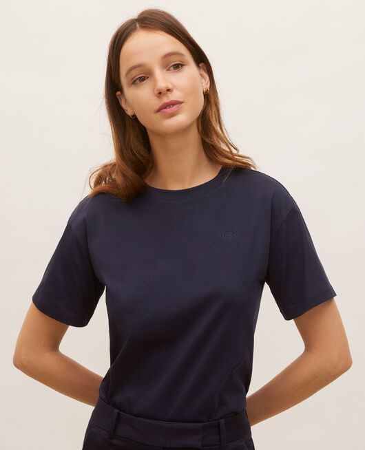 Camiseta oversize de algodón manga corta  NIGHT SKY