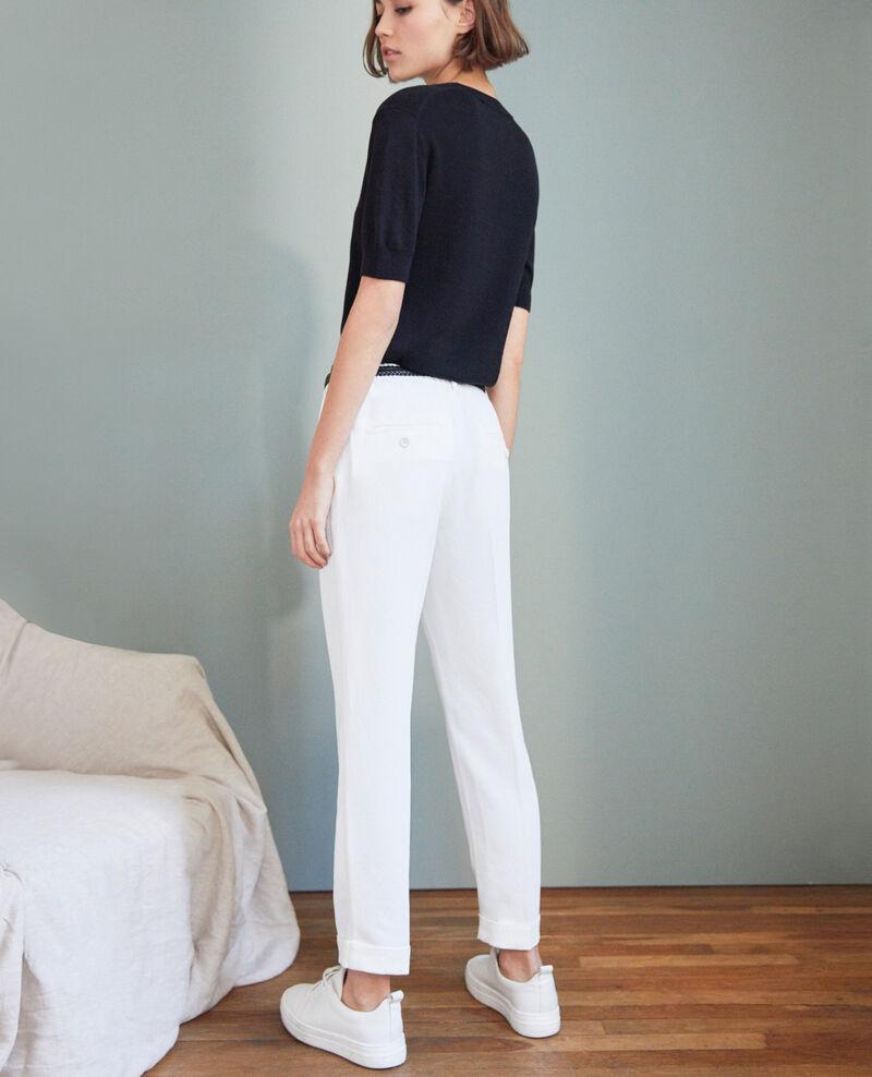 Pantalón corte carrot Off white Iouioui