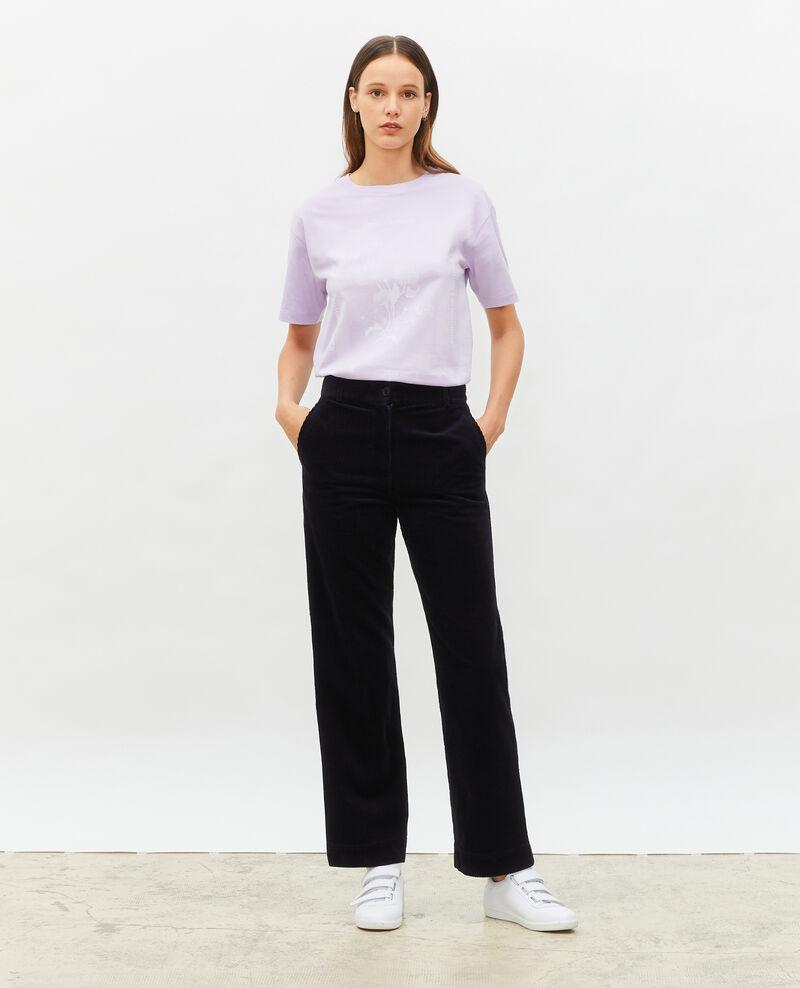Camiseta amplio de algodón manga corta Pastel lilac Masny
