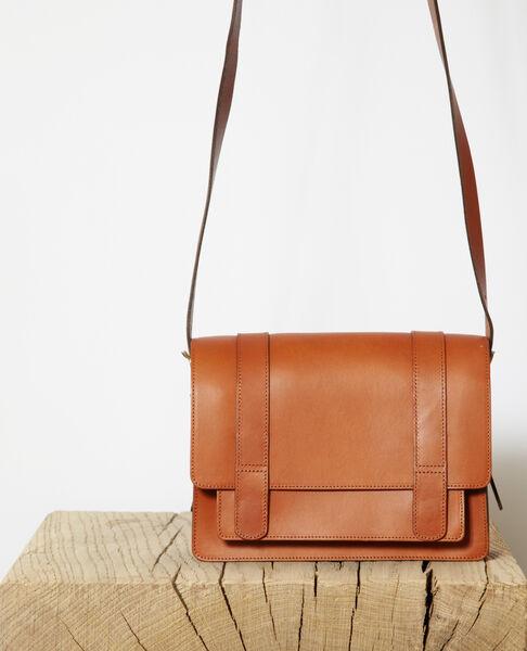 Comptoir des Cotonniers - Bolso de piel lisa tamaño pequeño Camel - 2