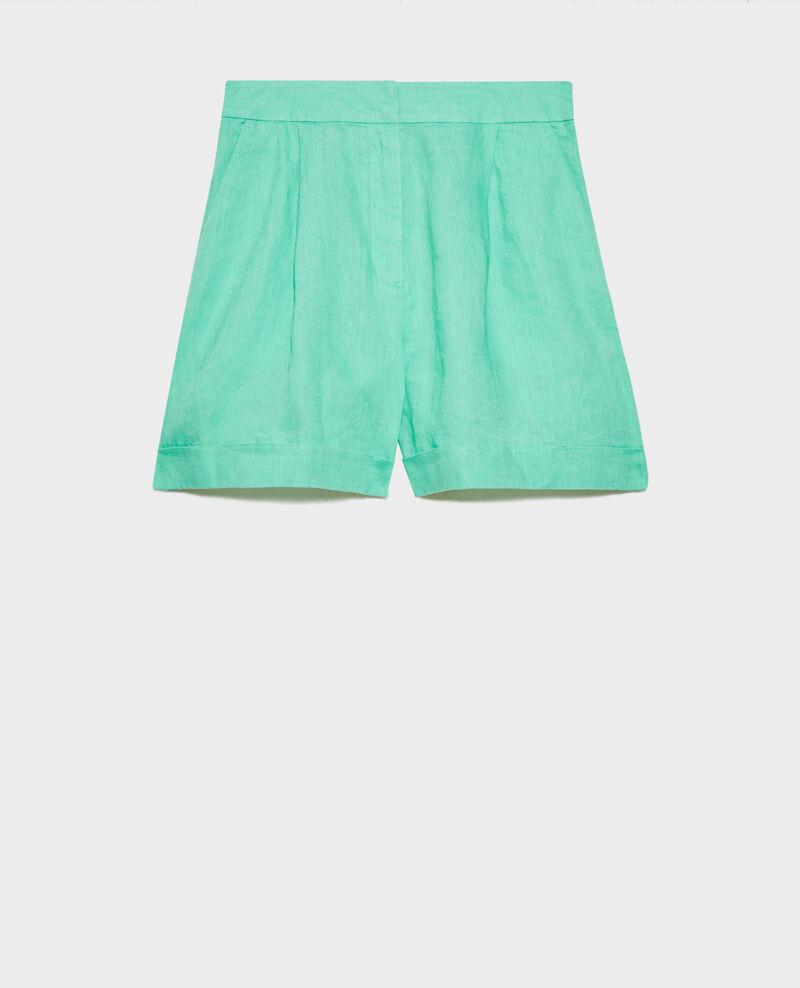 Short corto de lino Jade cream Navillien