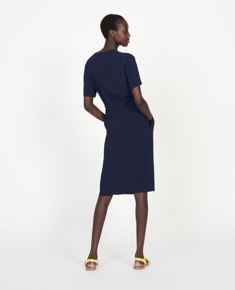Vestido recto y fluido Maritime blue Legris