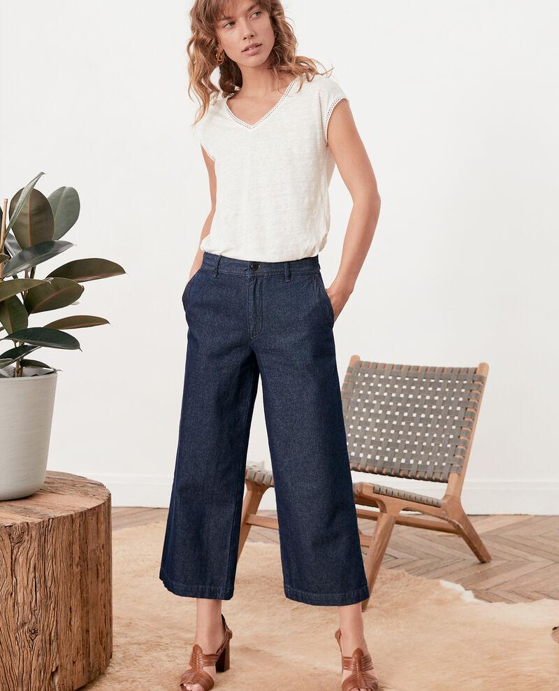 Jeans anchos cropped Indigo Fobiba
