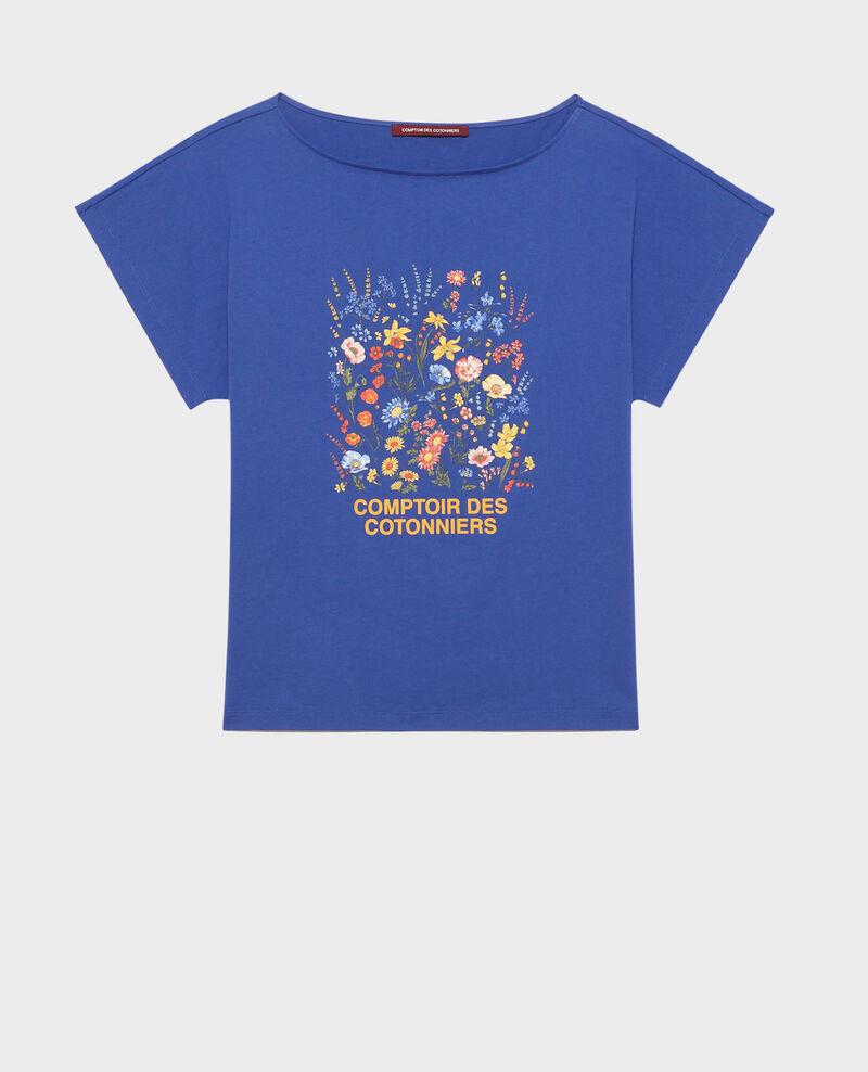 Camiseta de algodón manga corta Royal blue Marcelin