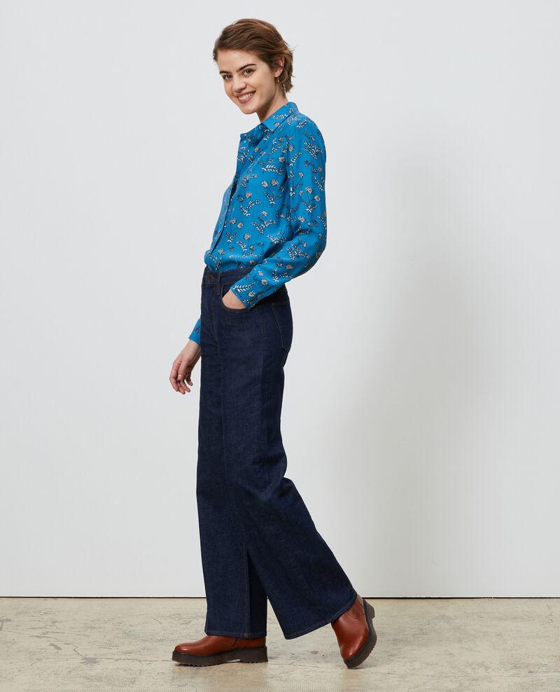 SIBYLLE - Camisa de seda con estampado Coronille faience Nabilo