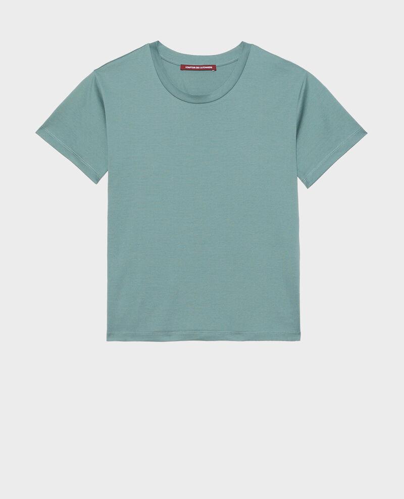 Camiseta de algodón con cuello redondo Treillis Lirous