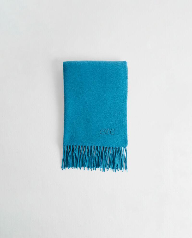 Gran bufanda de lana con flecos Blue coral Mautes