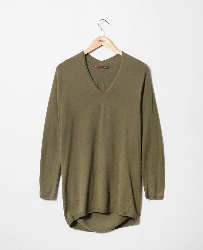 Jersey con cachemir Cheng olive Imouna